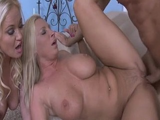 Mamma teaches her daughter how to fuck with aid from a ally